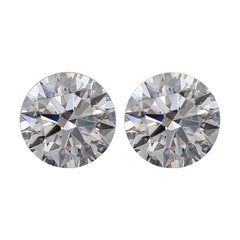 Internally Flawless D Color GIA Certified 3.24 Carats Round Diamond Studs