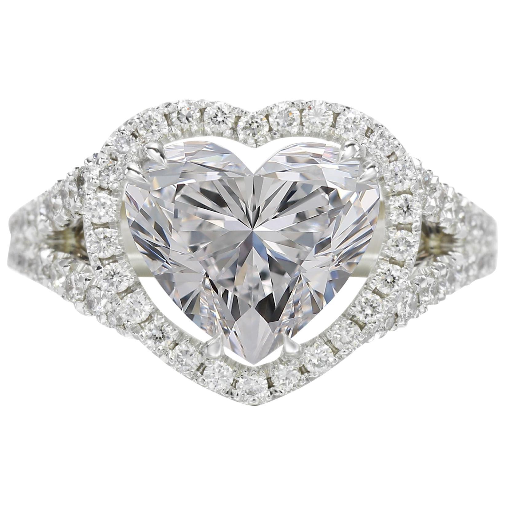 GIA Certified 3.01 Carat Heart Shape Cut Diamond D IF