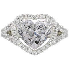 GIA Certified 3.01 Carat Heart Shape Cut Diamond D IF