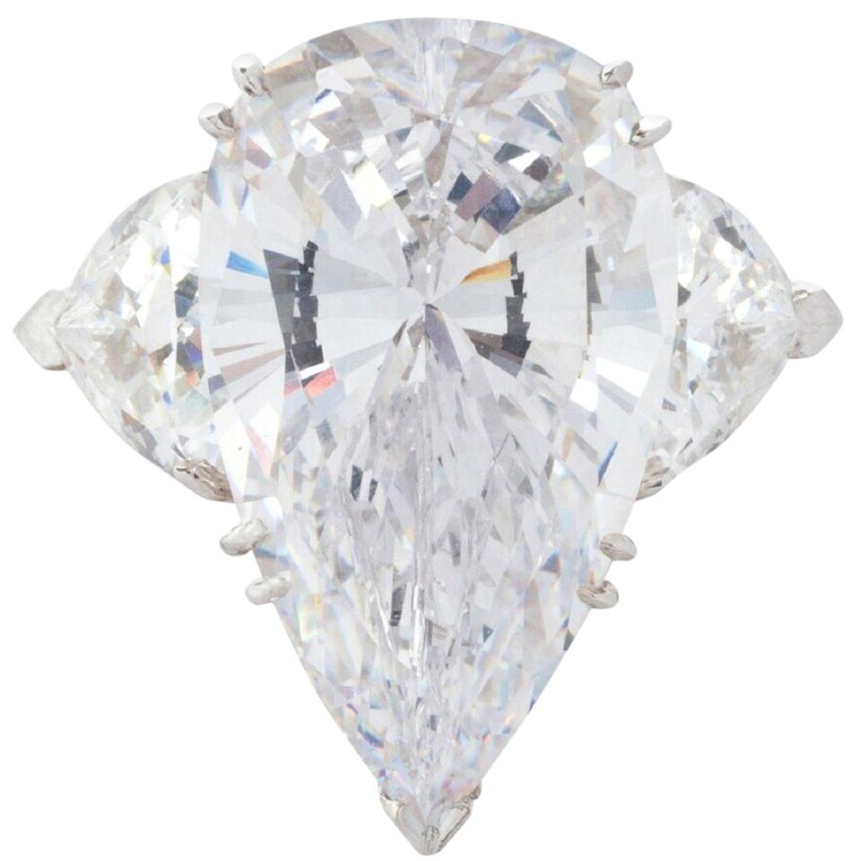 Internally Flawless D Color GIA Certified 8.03 Carat Pear Cut Ring