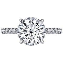 GIA Certified 1.60 Carat Brilliant Cut Diamond 3 EX