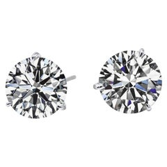 Internally Flawless E Color GIA Certified 2.03 Carat Studs