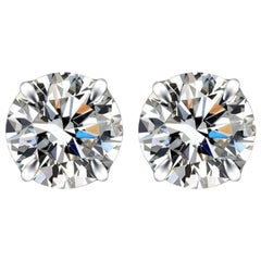 Internally Flawless F Color GIA Certified 1.60 Carat Diamond Studs 3 Excellent