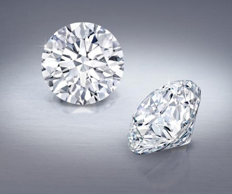 INTERNALLY FLAWLESS D/E Color GIA Certified 1.85 Carats Diamond Studs