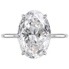 GIA Certified 2.85 Carat Oval Diamond 1.50 Ratio VVS2 Clarity
