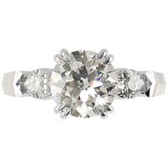 GIA Certified 2 Carat Round Brilliant Cut Diamond Ring