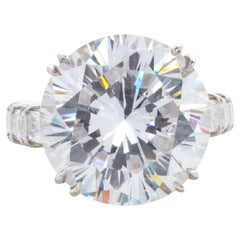 Internally Flawless GIA Certified 10.75 Carat Round Brilliant Cut Diamond Ring
