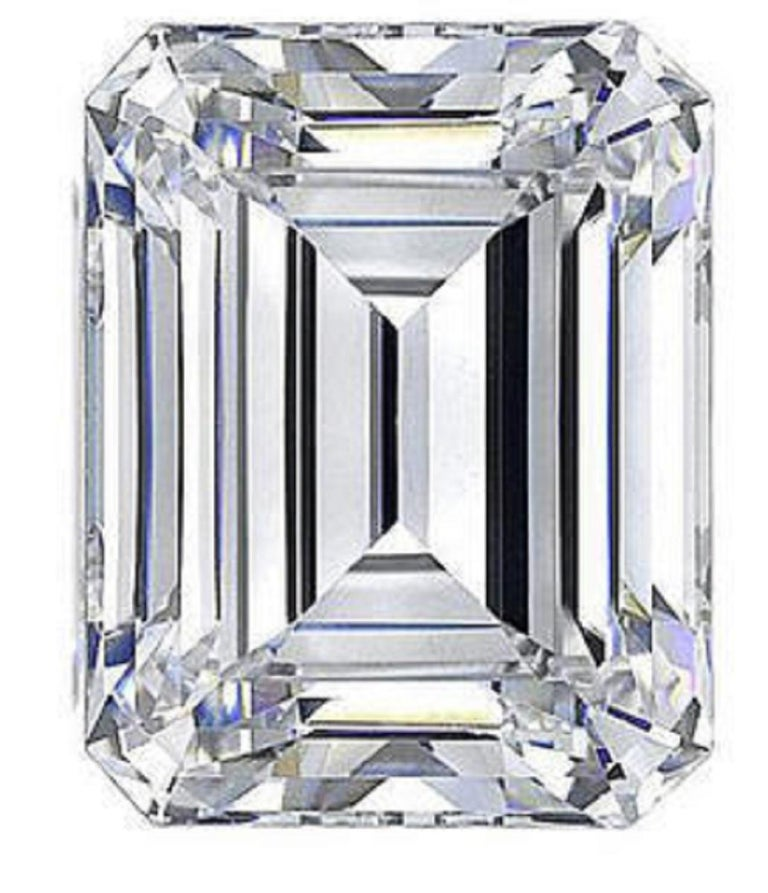 GIA Certified 2.50 Carat VVS2 E Color Emerald Cut Diamond  The stone has an excellent proportion and cut.