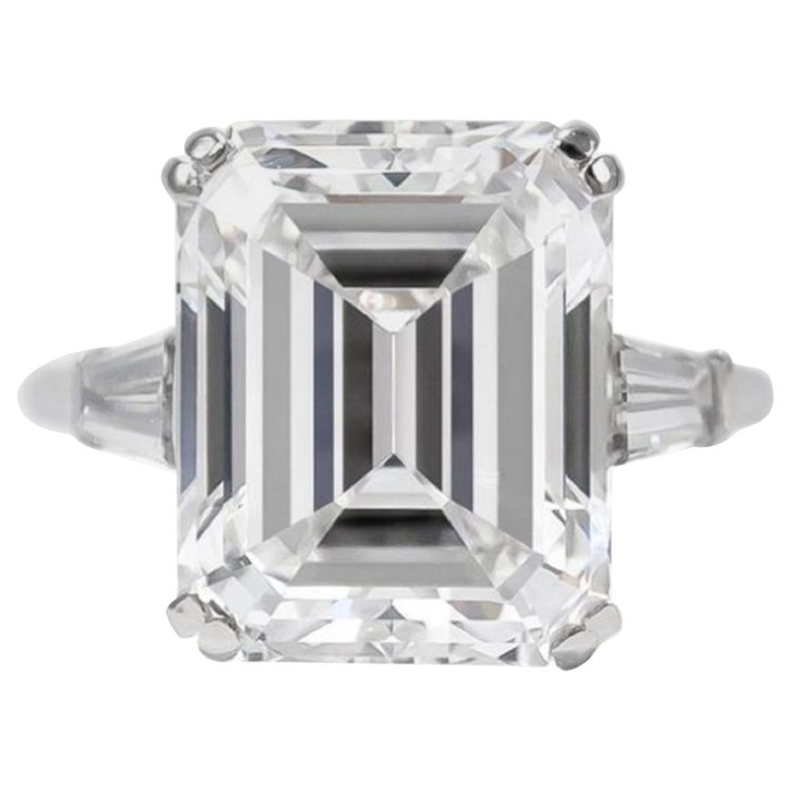 GIA Certified 2.50 Carat VVS2 E Color Emerald Cut Diamond