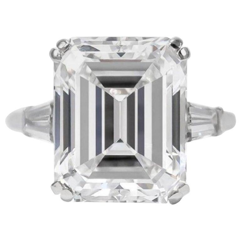 GIA Certified 2.50 Carat VVS2 E Color Emerald Cut Diamond For Sale