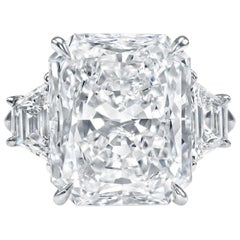 Internally Flawless GIA Certified 3.80 Carat Radiant Cut Diamond Ring