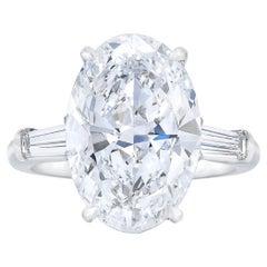 Internally Flawless GIA Certified 4.65 Carat Oval Diamond Ring