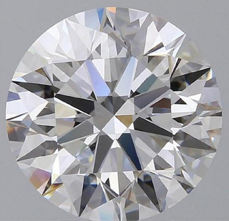 Modern Internally Flawless  GIA Certified 4.61 Carat Certified Diamond Studs For Sale