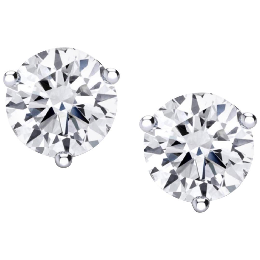 Internally Flawless  GIA Certified 4.61 Carat Certified Diamond Studs