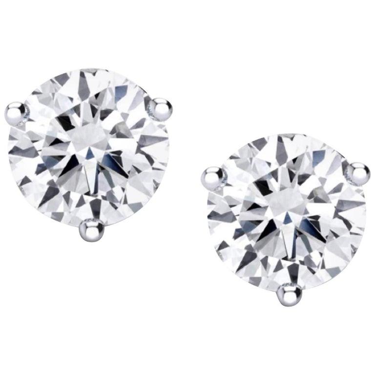 Internally Flawless  GIA Certified 4.61 Carat Certified Diamond Studs For Sale