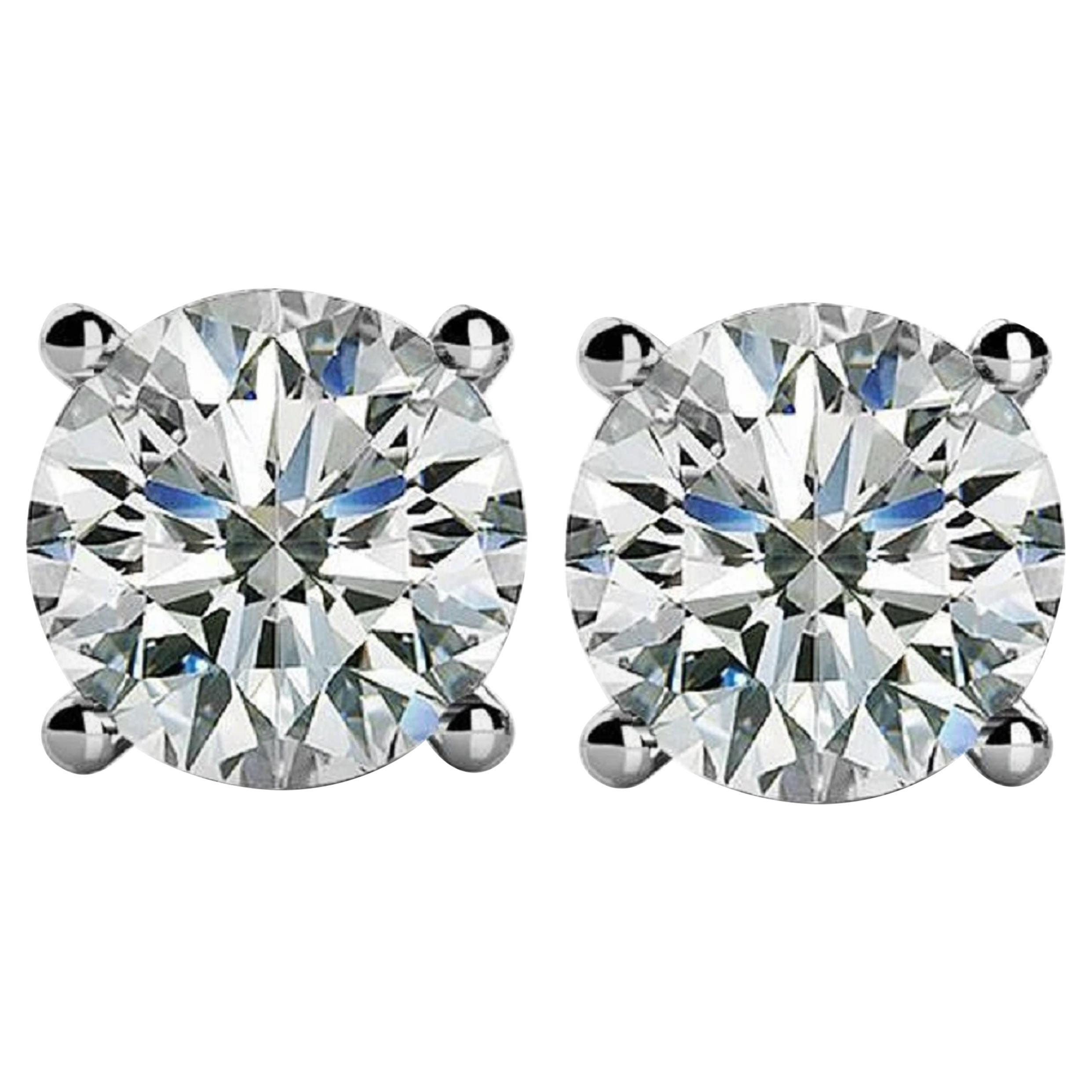 INTERNALLY FLAWLESS D Color GIA Certified 2 Carat Diamond Studs