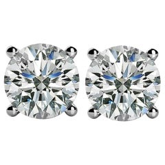 INTERNALLY FLAWLESS D Color GIA Certified 2 Carat Diamond Studs