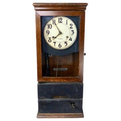 International Business Machines 'IBM' Oak Cabinet Clock, circa 1930s