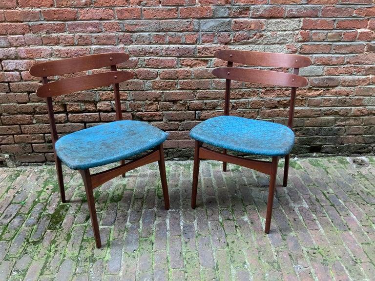 Scandinavian Modern Johannes Andersen Teak Side Chairs For Sale