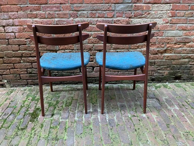 Danish Johannes Andersen Teak Side Chairs For Sale