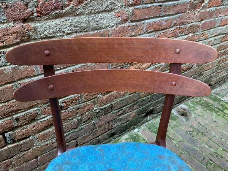 Johannes Andersen Teak Side Chairs In Good Condition For Sale In Garnerville, NY