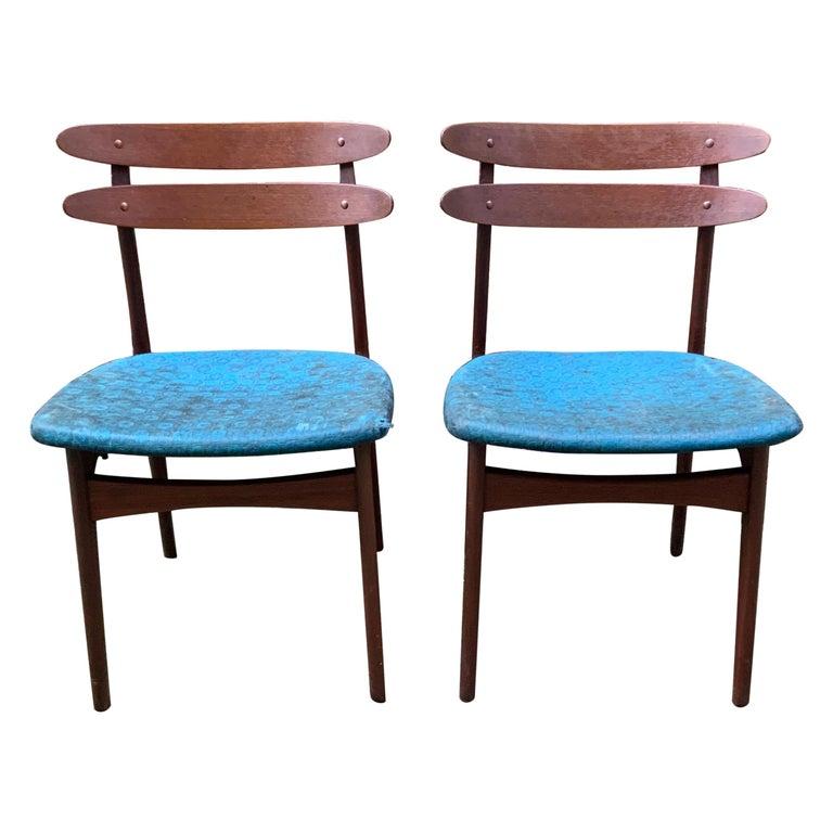 Johannes Andersen Teak Side Chairs For Sale