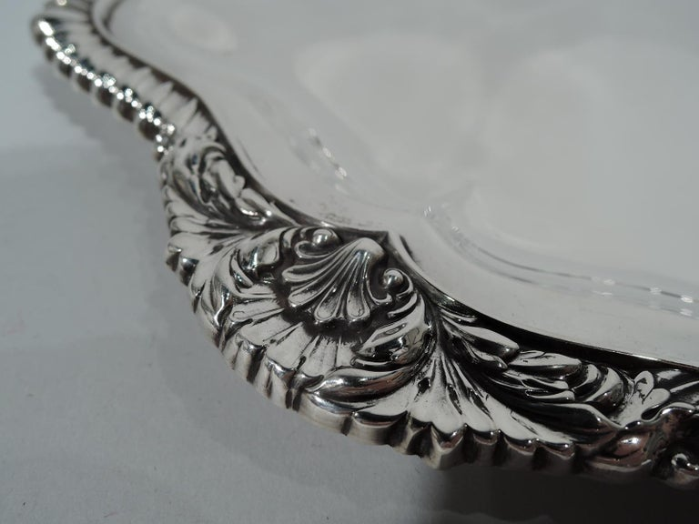American International Lord Robert Sterling Silver Georgian Tray For Sale