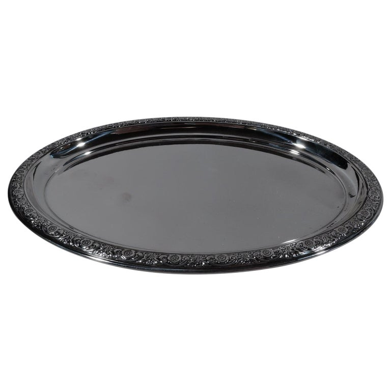 International Prelude Sterling Silver Oval Tray For Sale