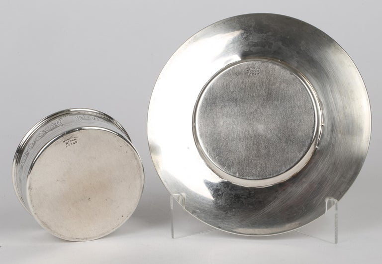 International Silver Company Art Nouveau Sterling Silver Childs Bowl & Stand In Good Condition For Sale In Bishop's Stortford, Hertfordshire