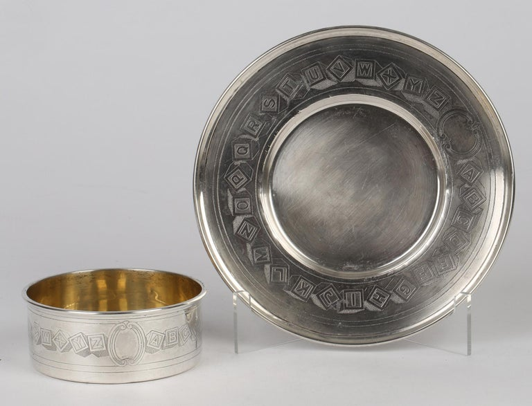 Early 20th Century International Silver Company Art Nouveau Sterling Silver Childs Bowl & Stand For Sale