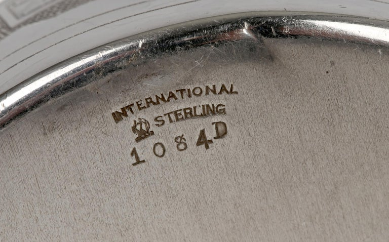 International Silver Company Art Nouveau Sterling Silver Childs Bowl & Stand For Sale 3