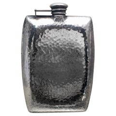 International Sterling Silver Flask in Arts & Crafts Style