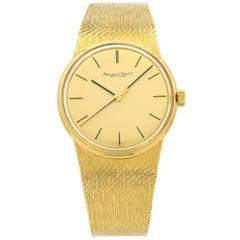 International Watch Co. yellow Gold Mesh Band Dress Manual Wind Wristwatch