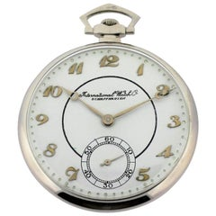 International Watch Company Platinum Tuxedo Pocket Watch
