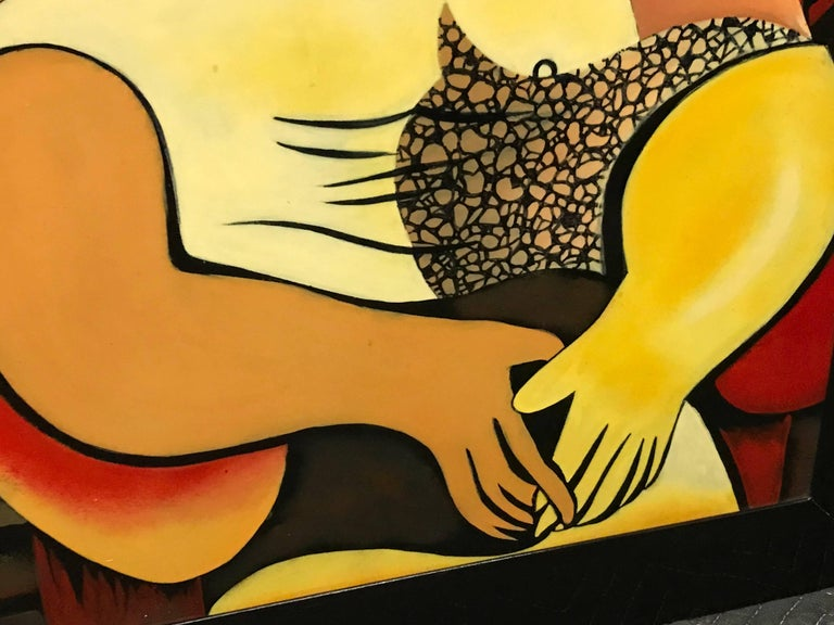 """20th Century Interpretation in Gloss Lacquer of Picasso's Painting """"Le Reve"""" For Sale"""