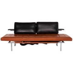 Interprofil Campus de Luxe Leather Lounger Brown Black Function Relax Function