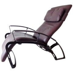 Interprofil IP84S Reclining Leather Lounge Chair by Ferdinand A. Porsche, 1980s