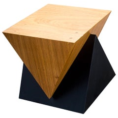 """Intersection"" Minimalist Bench or Side Table Made of Freijó and Lacquered Wood"