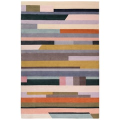 Interval Hand-knotted 9'x6' Rug in Silk By Paul Smith