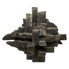 """Interzone"" Freestanding Mixed-Media Sculpture by Dan Schneiger"