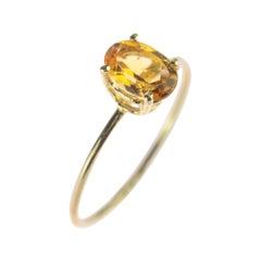 Intini Jewels Natural Citrine Quartz 14 Karat Yellow Gold Cocktail Handmade Ring