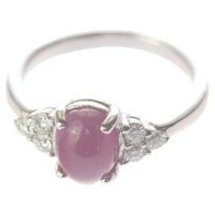 Intini Jewels Ruby Oval Diamonds 18 Karat White Gold Romantic Love Victoria Ring