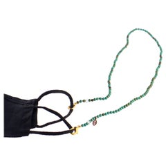 Intini Jewels Turquoise Beaded String Lanyard Handmade Face Mask Holder Necklace