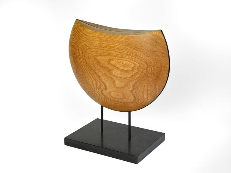 American Into the Wind, Hand Carved White Oak and Cocobolo Sculpture on Granite Base For Sale