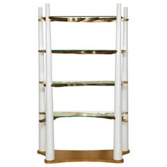 Into The Woods Bookcase, White and Brass, InsidherLand by Joana Santos Barbosa