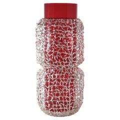 Intreccio Red Vase