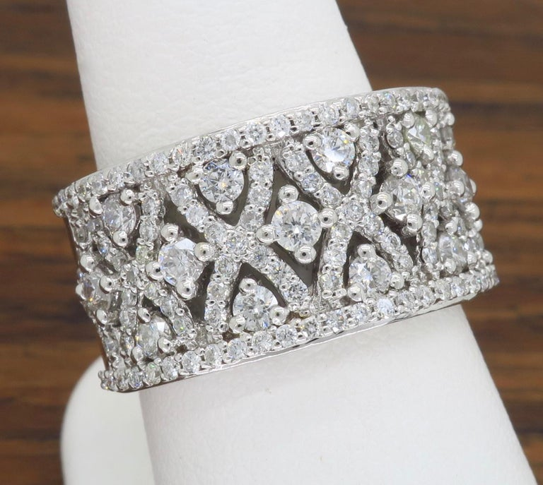 Intricate 1.50ctw Diamond Band For Sale 6