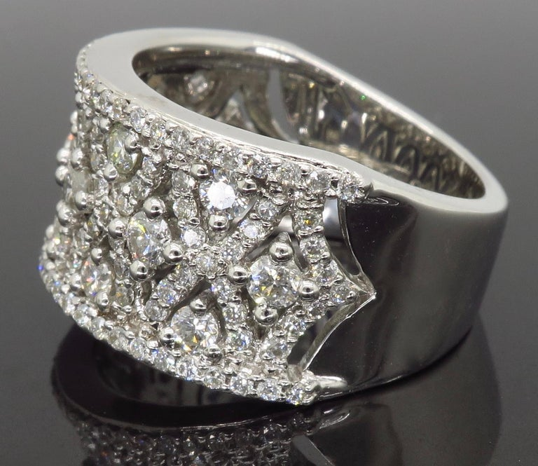 Women's Intricate 1.50ctw Diamond Band For Sale