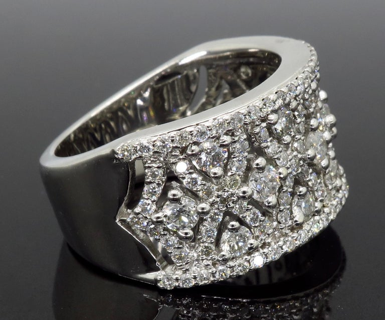 Intricate 1.50ctw Diamond Band For Sale 2