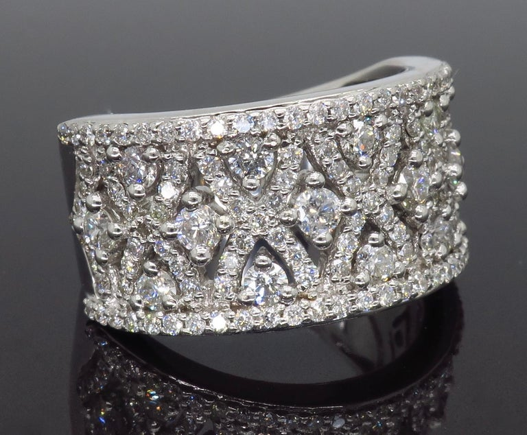 Intricate 1.50ctw Diamond Band For Sale 3